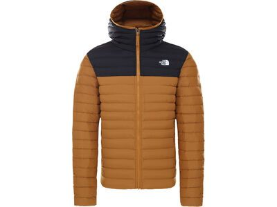 The North Face Men's Stretch Down Hoodie, timber tan/tnf black - Daunenjacke