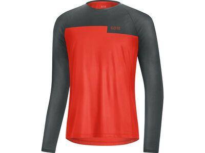 Gore Wear Trail LS Shirt fireball/urban grey