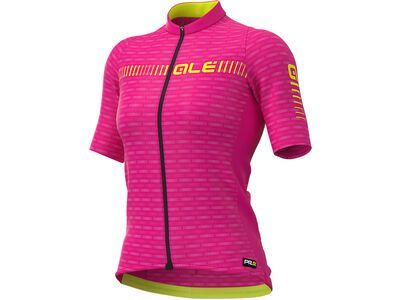 Ale Green Road Lady Jersey, cyclamen-fluo yellow - Radtrikot