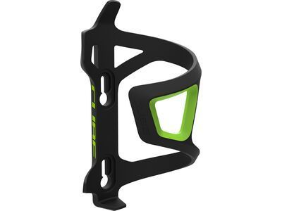 Cube Flaschenhalter HPP Left-Hand Sidecage black'n'green