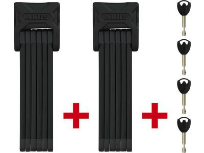 Abus Bordo TwinSet 6000/90, inkl. Halter black