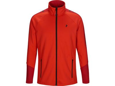Peak Performance Rider Zip, dark chilli - Fleecejacke