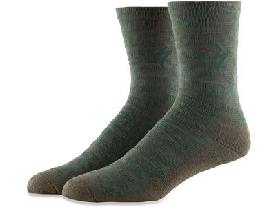Specialized Techno MTB Tall Sock oak green terrain