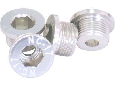 NC-17 M10 Kettenblattschraube für Sram 2-fach Kurbeln, silver