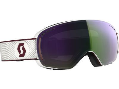 Scott LCG Compact inkl. WS, white merlot red/Lens: enhancer green chrome - Skibrille