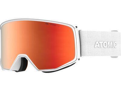 Atomic Four Q Stereo inkl. WS, white/Lens: red - Skibrille