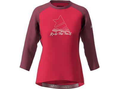 Zimtstern PureFlowz Shirt 3/4 Women's, red/windsor wine/green - Radtrikot