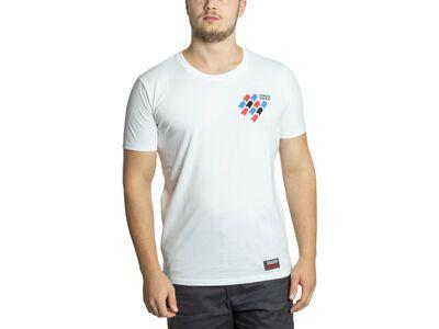 BIKER-BOARDER Strassenschlacht T-Shirt Reifenspuren Herren, weiß