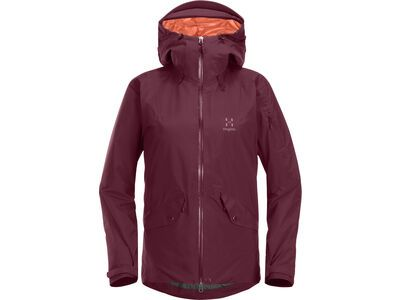 Haglöfs Khione Insulated Jacket Women, aubergine - Skijacke