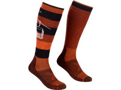 Ortovox Free Ride Long Socks M clay orange