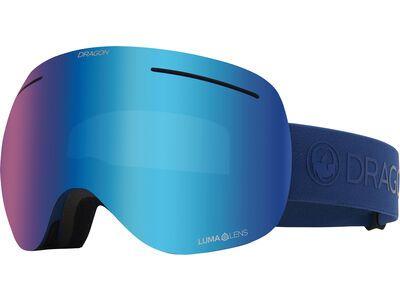 Dragon X1 - Lumalens Blue Ionized, navy/Lens: lumalens blue ion