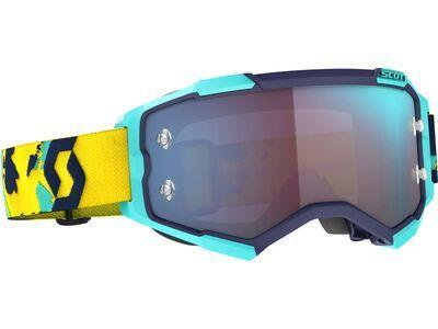 Scott Fury Goggle Blue Chrome Works blue/orange