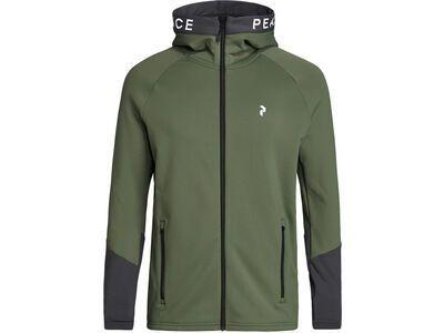 Peak Performance Rider Zip Hood thrill green/motion grey