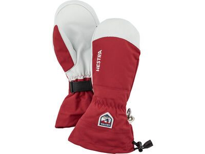 Hestra Army Leather Heli Ski Mitt, red - Skihandschuhe