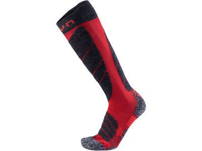 UYN Magma Ski Socks dark red/anthracite