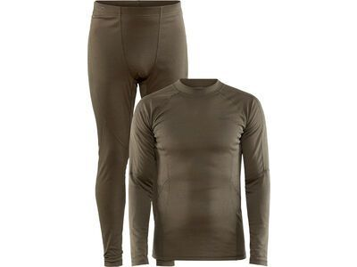 Craft Core Warm Baselayer Set M, dark olive - Unterwäsche-Set