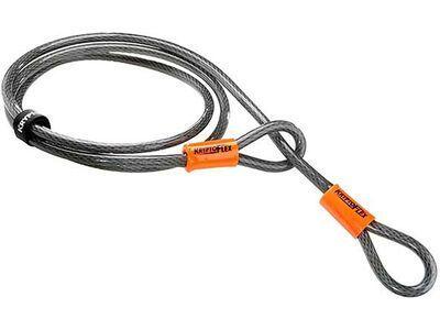 Kryptonite KryptoFlex 710 Double Loop Cable - 1/220 cm, gelb/schwarz - Sicherungskabel