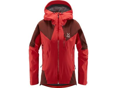 Haglöfs L.I.M Touring Proof Jacket Women, hibiscus red/maroon red  - Skijacke