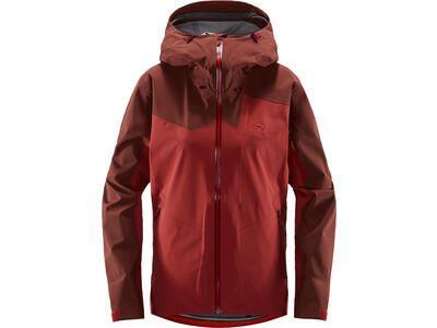 Haglöfs Stipe Jacket Women, brick red/maroon red - Skijacke