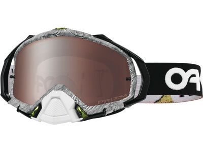 Oakley Mayhem Pro MX Factory Pilot Thumbprint Prizm Prizm MX Black Iridium factory pilot thumbprint black white