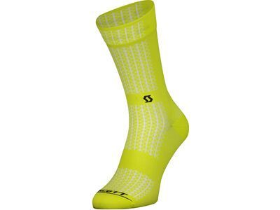 Scott Performance Crew Socks sulphur yellow/black