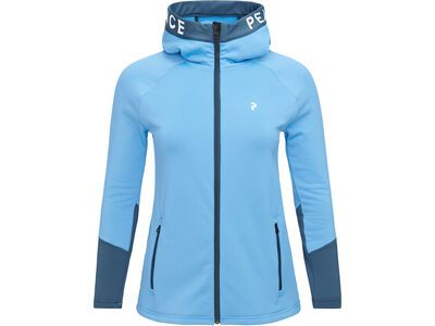 Peak Performance W Rider Zip Hood, blue elevation - Fleecejacke