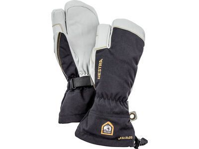 Hestra Army Leather Gore-Tex 3 Finger, black - Skihandschuhe