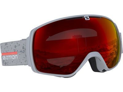 Salomon XT One, grey matt/Lens: ml mid red - Skibrille