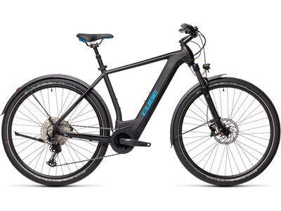 Cube Cross Hybrid Race Allroad 625 2021, black´n´blue - E-Bike