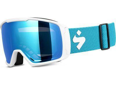 Sweet Protection Clockwork WC RIG Reflect BLI + WS, satin white/Lens: RIG aquamarine - Skibrille