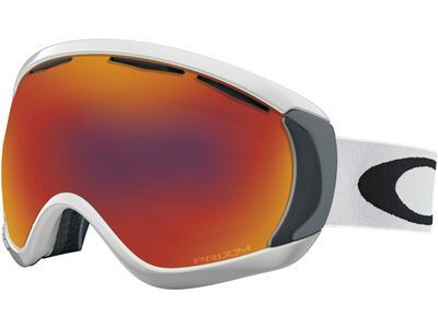 Oakley Canopy Prizm, matte white/Lens: torch iridium - Skibrille