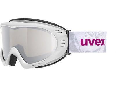 uvex cevron LM, white/Lens: litemirror silver - Skibrille
