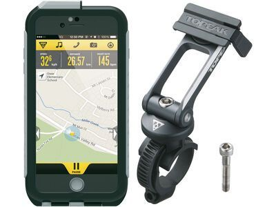Topeak Weatherproof RideCase iPhone 6+/6s+ mit Halter black/gray