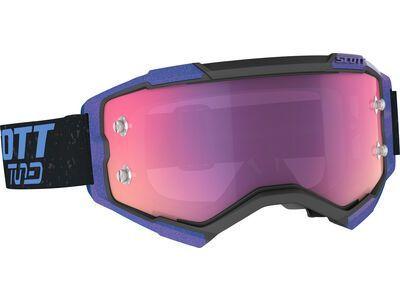 Scott Fury Tuned Goggle Purple Chrome Works black/smurple blue