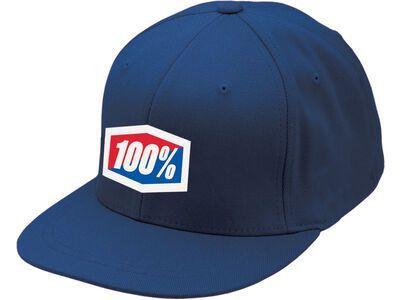 100% Essential J-Fit Hat, blue - Cap