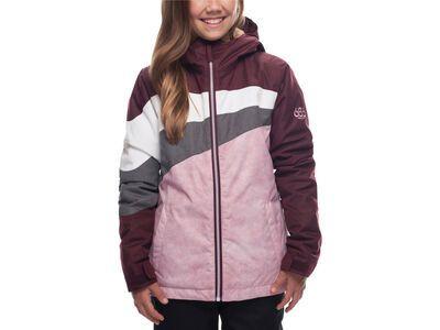 686 Girls' Ray Insulated Jacket, wine melange - Snowboardjacke
