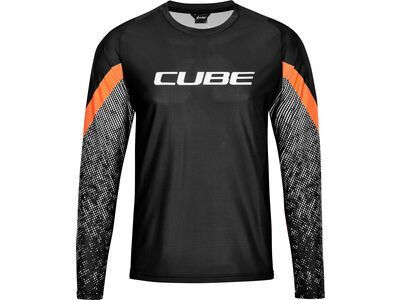 Cube Edge Rundhalstrikot langarm black´n´orange