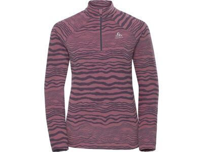 Odlo Midlayer 1/2 Zip Albula, gray/mesa rose - Fleecepullover
