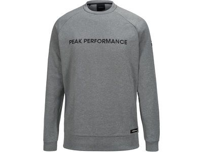 Peak Performance Goldeck Crew, grey melange - Pullover