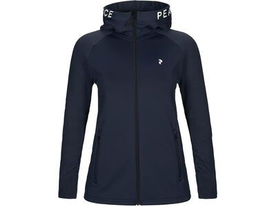 Peak Performance W Rider Zip Hood, blue shadow - Fleecejacke