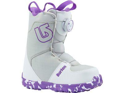 ***2. Wahl*** Burton Grom Boa 2019, white/purple - Snowboardschuhe