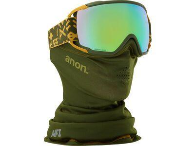 *** 2. Wahl *** Anon Circuit MFI, native/Lens: sonar green - Skibrille |