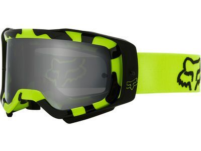 Fox Airspace Stray Goggle inkl. WS, fluo yellow/Lens: dark gray lex - MX Brille