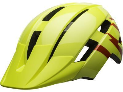 Bell Sidetrack II Child, hi-viz/red - Fahrradhelm