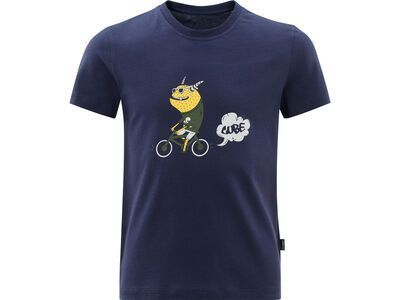 Cube Junior Organic T-Shirt Monster dark blue