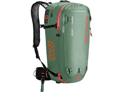 Ortovox Ascent 28 S Avabag Kit, ohne Kartusche, green isar - Lawinenrucksack
