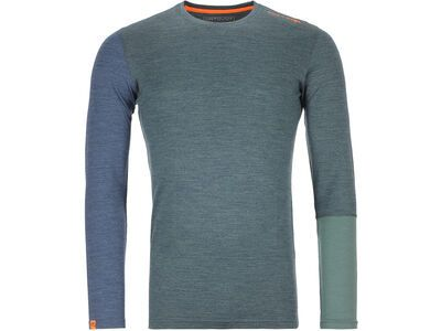 Ortovox 185 Merino Rock'n'Wool Long Sleeve M, green forest blend - Unterhemd