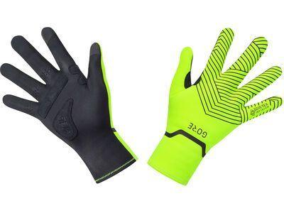 Gore Wear C3 Gore-Tex Infinium Stretch Mid Handschuhe, neon yellow/black - Fahrradhandschuhe