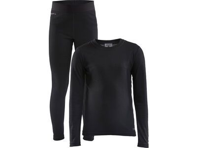 Craft Core Warm Baselayer Set Jr, black - Unterwäsche-Set