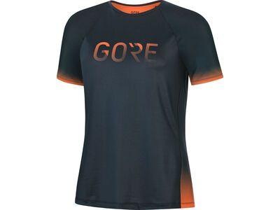 Gore Wear Devotion Damen Shirt orbit blue/fireball